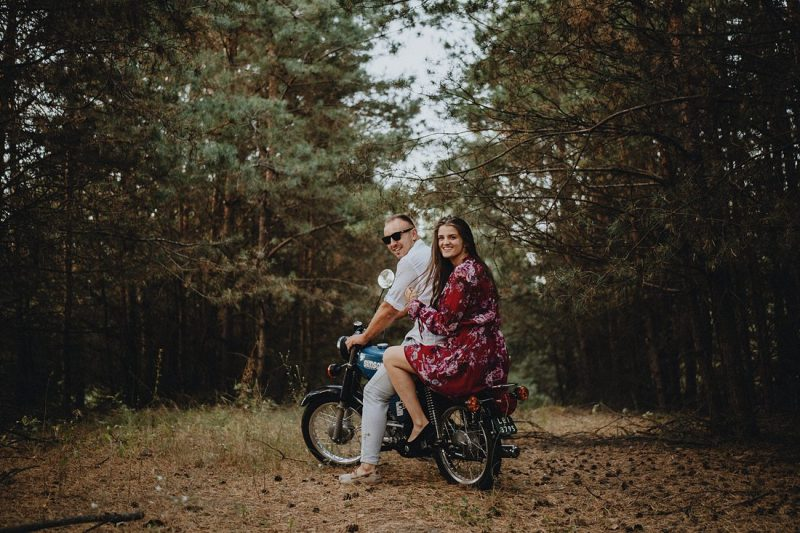 stare motocykle sesja ślubna