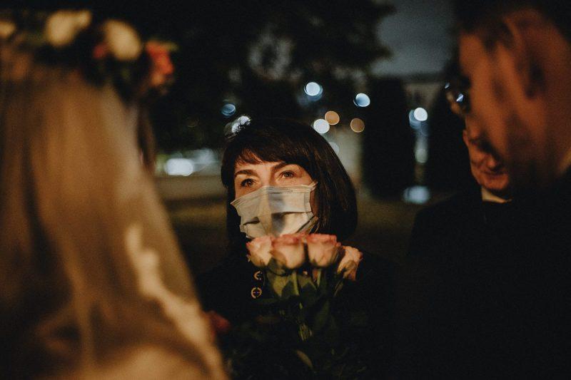 skaładanie życzeńna ślubie pandemia